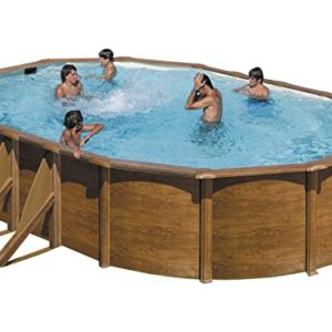 Piscine hors sol prix moyen des piscines en kit ou - Piscine hors sol aspect bois ...