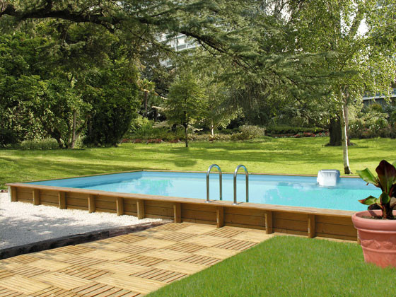 Co t moyen d 39 une piscine semi enterr e et formalit s for Piscine structure bois semi enterree