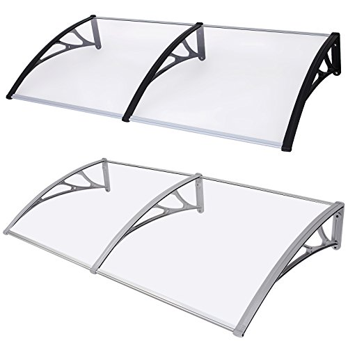 excellent songmics x auvent porte cmterrasse toit transparent with avancee de porte. Black Bedroom Furniture Sets. Home Design Ideas