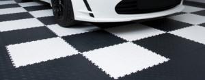 Dalles de PVC pour revêtement de sol de garage