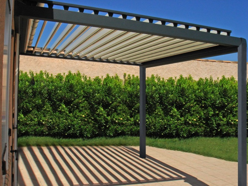 pergola couverte pour terrasse. Black Bedroom Furniture Sets. Home Design Ideas