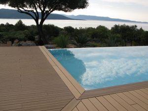 piscine plage bois