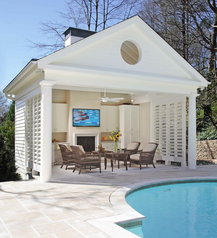 Pool house prix moyen mat riaux de construction et for Pool house plans with bathroom