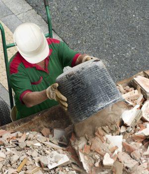 évacuation debris gravats chantier