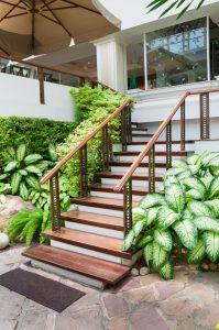 escalier exterieur bois
