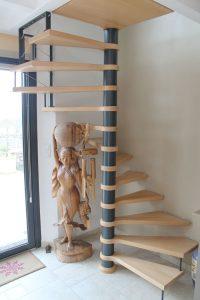 escalier helicoidal climacon bois