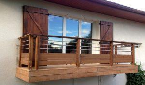 garde corps balcon bois